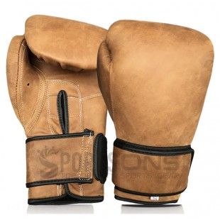 RETRO Heritage Brown Leather Boxing Gloves