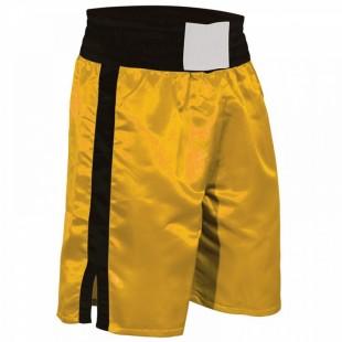 Pro Style Boxing Trunks Black & Yellow