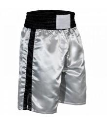 Pro-Style Boxing Trunks Black & White