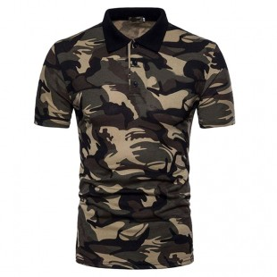 Custom Camouflage 3D Printed Polo Shirts