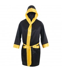 Black & Gold Custom Boxing Gown