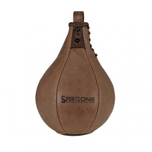 Heritage Brown Leather Boxing Speedball